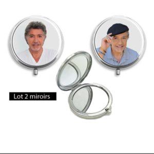 2 miroirs de poche